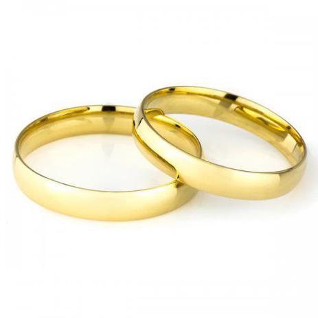 e1cd60b88dc Par de Aliança de Casamento em Ouro 18K 3
