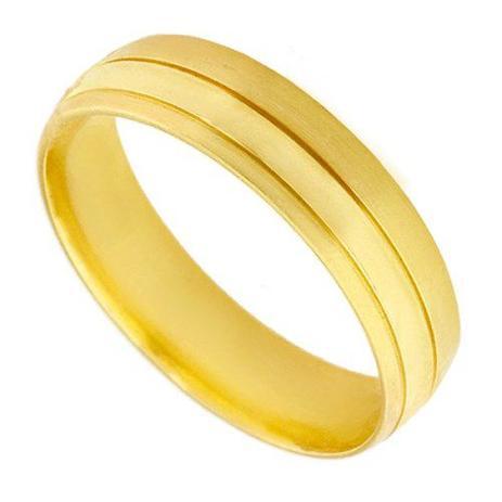 Par de Aliança de Casamento em Ouro 18k Acetinada ea2f60 - Joiasgold ... 2b6cd5b718