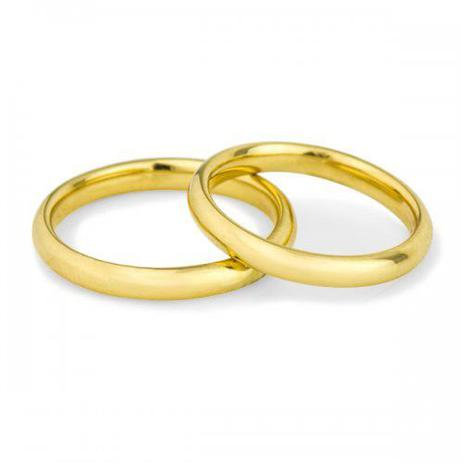 d9ce5238c2d Par de Aliança de Casamento em Ouro 18k Air Fit Anatômica ta29a - Joiasgold