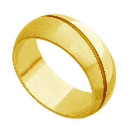 Par de Aliança de Casamento em Ouro 18k Grossa com Frisos ar074 - Joiasgold 4f0b61f48f