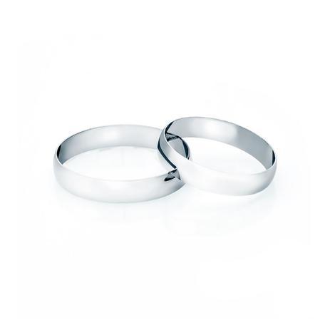 1092b7ad763 Par de Aliança de Casamento em Ouro Branco 18k 3