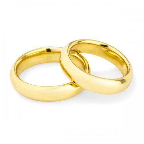 Par de Alianças Casamento Ouro 18K Air Comfort Anatômica ta49a - Joiasgold d8a35968b9