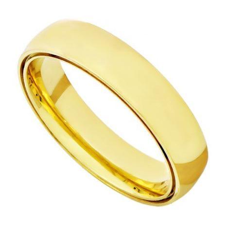 Par de Alianças de Casamento em Ouro 18k Dupla Anatômica Lisa ead50 -  Joiasgold 1bd1fbb0ad