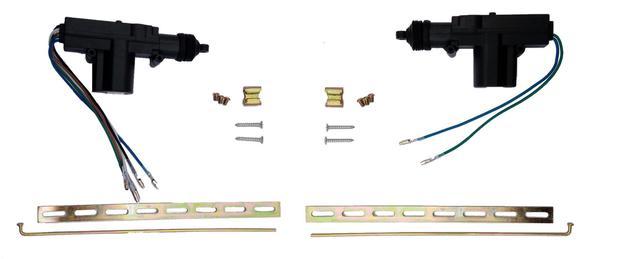 Imagem de Par De Motores De Trava Elétrica Universal Reposição 2 fios e 5 fios