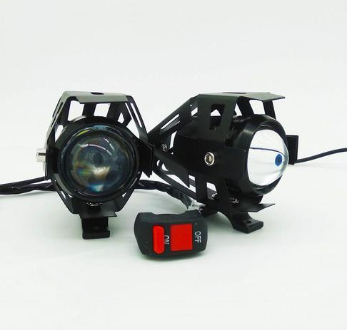 f422a6af4b Par Farol Milha LED Auxiliar Neblina Moto Universal Com Interruptor - Lelong