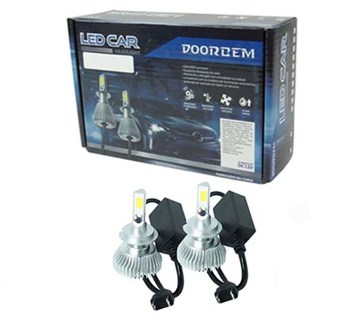 Imagem de Par Lâmpada Super Led Headlight H1 32W 3200 Lumens 6000K - Doorbem