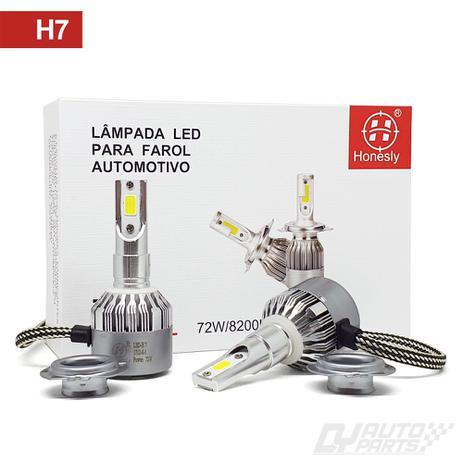 Imagem de Par Lâmpadas Automotiva H7 Super Led 72w 6000k 8200 Lumens Honesty TP9 Super Branca