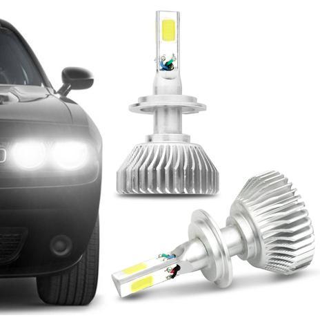 Imagem de Par Lâmpadas Super LED 3D H7 6000K 12V 24V 50W 9000LM Efeito Xênon Carro Moto Caminhão