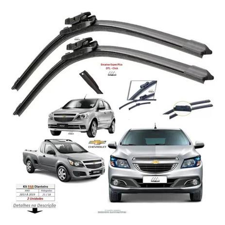 Imagem de (PAR) Palhetas de silicone Grafitada Chevrolet Onix e Prisma 2013-2017 em diante. - Vx Group