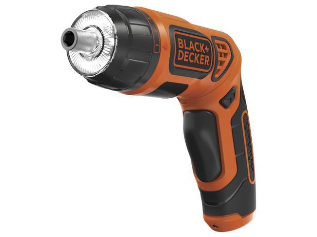 Parafusadeira BlackDecker BDCS36F-BR - a Bateria 1/4