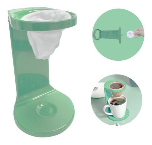 Imagem de Passador De Café Individual C/ Coador My Coffee Verde Ou