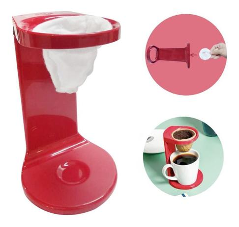 Imagem de Passador De Café Individual C/ Coador My Coffee Vermelho Ou