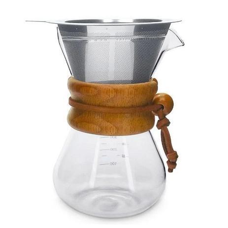 Imagem de Passador de Cafe Vidro e Coador em INOX 350ML Mimo STYLE VD20032 7145