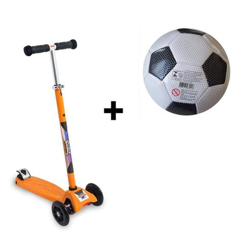 07b8d01b6f Patinete 3 Rodas Scooter Net Laranja Zp105 + Bola de Futebol - Zoop toys