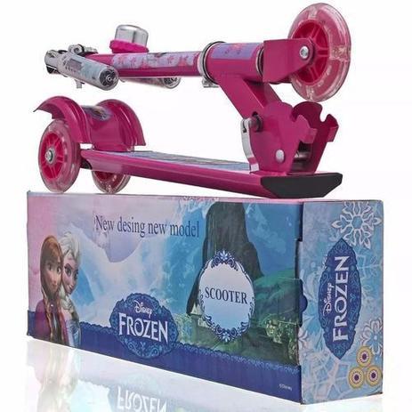 Imagem de Patinete Infantil Rodas Ajustável Princesa Frozen