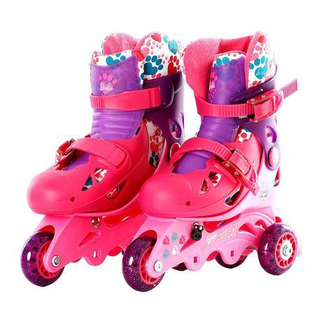 0f049f625 Patins Ajustável 3 Rodas Barbie 29 A 32 Com Kit Proteção 7785-5 - Fun