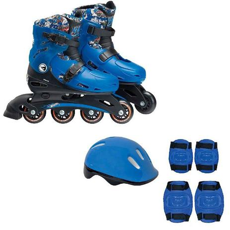 215f8c1481c Patins Ajustavel Hot Wheels 33 A 36 Com Acessorios De Seguranca 8007-8 Fun