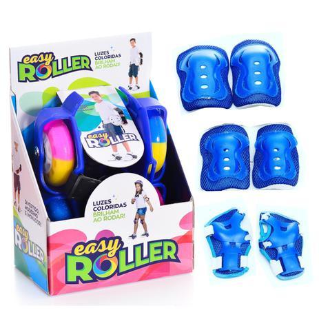 46ffbe65788 Patins Infantil para Adaptar no Tênis Easy Roller com Kit Proteção Azul