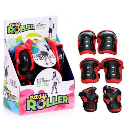 4502be9ec4 Patins Infantil para Adaptar no Tênis Easy Roller com Kit Proteção Vermelho