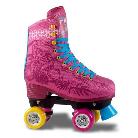 571f65c429b2b Patins Infantil Tradicional Quad 4 Rodas Fila Juliet Rosa - Fila skates