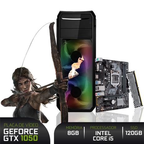 Imagem de PC Gamer 3green Intel Core i5 9400F 8GB DDR4 ASUS SSD 120GB Geforce GTX 1050 Ti 4GB