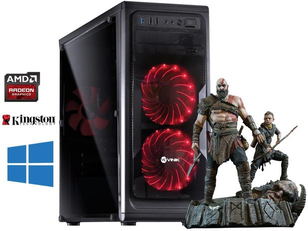 Imagem de Pc Gamer Amd A6 7480 R5 SERIES + Ddr3 8gb + Ssd 120Gb + Wifi  Com Brindes