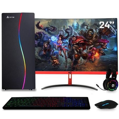 Imagem de PC Gamer com Monitor Gamer 24