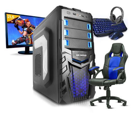 Imagem de Pc Gamer Completo Smart Pc SMT81074 i5 8GB (Geforce GTX 1050TI 4GB) 1TB + Cadeira Gamer