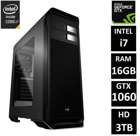 Imagem de PC Gamer EasyPC Extreme Intel Core i7 16GB (GeForce GTX 1060 6GB) HD 3TB Fonte 80 Plus