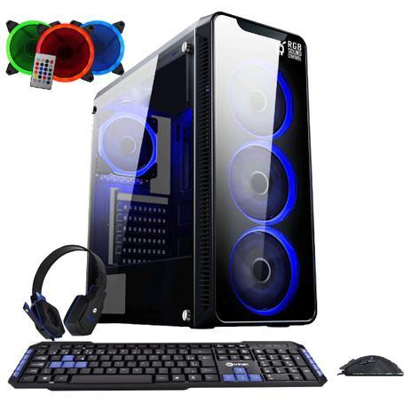 Imagem de PC Gamer EasyPC FirstBlood AMD A10 4-Core 3.8Ghz (Radeon R7) 8GB DDR4 500GB HDMI 500W Kit Gamer