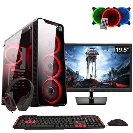 Imagem de PC Gamer EasyPC FirstBlood AMD A10 4-Core 3.8Ghz (Radeon R7) 8GB DDR4 500GB Monitor 19.5