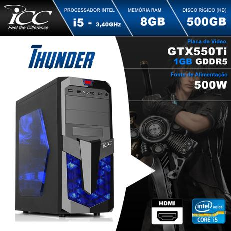 Imagem de PC Gamer ICC IT2581S Intel Core i5 3,2 Ghz 8GB  500gb GeForce GTX-550TI 1GB DDR5 128Bits DVI HDMI FULL HD