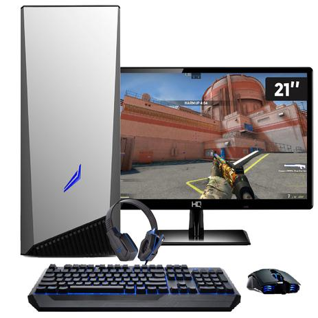 Imagem de Pc Gamer Intel Core i5 8GB HD 1TB Geforce GTX 1050 DDR5 com Monitor 21,5 Full HD EasyPC