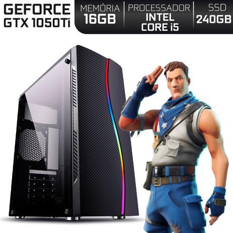 Imagem de PC Gamer Intel Core i5 RAM 16GB Nvidia Geforce GTX 1050 Ti 4GB SSD 240GB EasyPC Expert