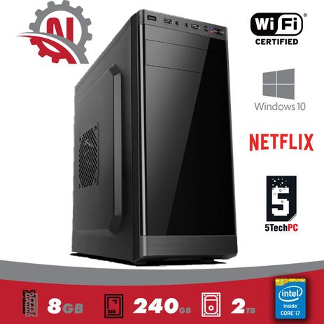 Imagem de PC Intel Core I7, 8gb de memória, SSD240Gb, HD 2 Tera, Gravador DVD, WINDOWS 10 PRO 2019 + WIFI