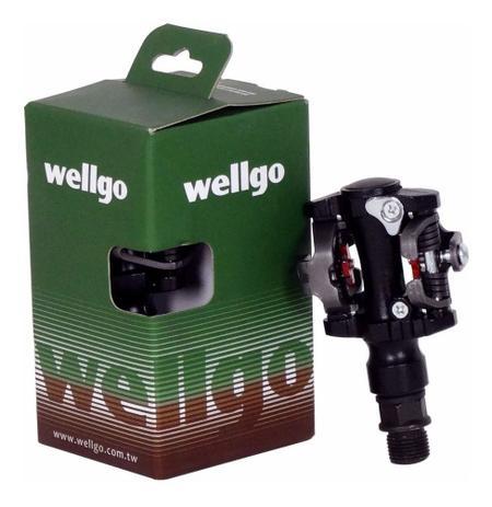 Imagem de Pedal Bike Clip Sapatilha Wellgo M919 Rolamento Mtb C/ Tacos