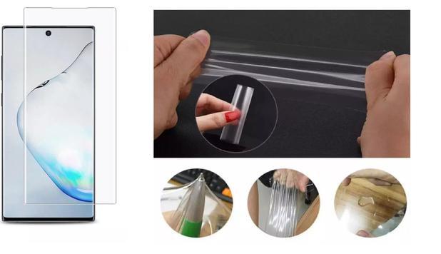Imagem de Película De Gel Flexível Cobre 100% Display Samsung Galaxy Note 10+ Plus N975 Tela 6.8