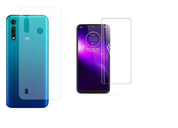 Imagem de Película De Nano Gel Flexivel Frente e Verso Anti Risco Motorola Moto G9 Play / E7 Plus