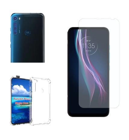 Imagem de Película De Nano Gel Motorola Moto One Fusion+ Plus (64MP) + Película Da Lente + Capa Reforçada