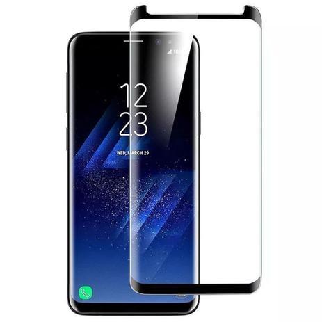 Película De Vidro Curvada Com Borda Preta Samsung Galaxy S8