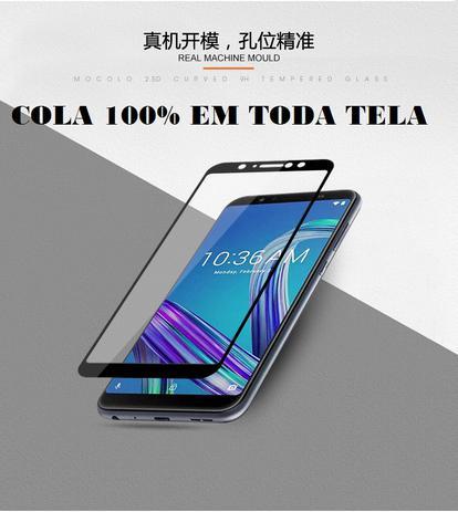 Imagem de PelÍcula De Vidro Temperado Asus Zenfone Max Pro M1 3D 9H 2.5D Full Cover
