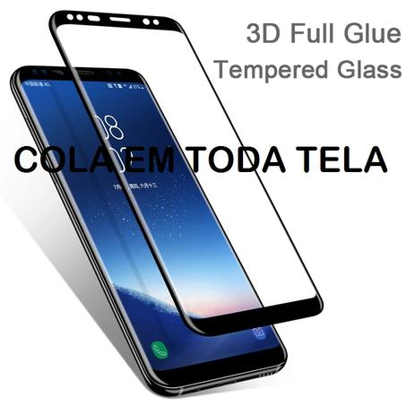 071a92b7f Pelicula De Vidro Temperado Galaxy S8 - 5D Curvada Cola a Tela Toda - M3
