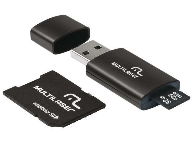 Pen Drive 32GB Multilaser MC113 - Adaptador SD - 220V