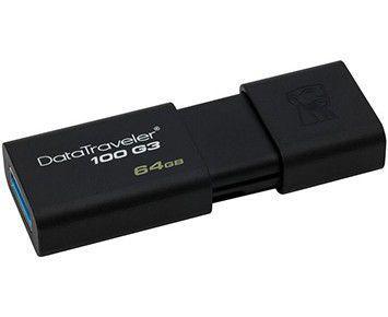 Imagem de Pen Drive 64GB Kingston USB 3.0 Datatraveler 100 G3 (DT100G3/64GB T)