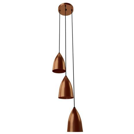Imagem de Pendente Luce Bronze 3 Lâmpadas Orluce