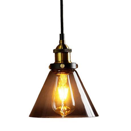 383882e57 Pendente Retro Fumê Industrial Vidro Loft Luminária Vintage Lustre Design  Edison LM1856 - Eluminarias