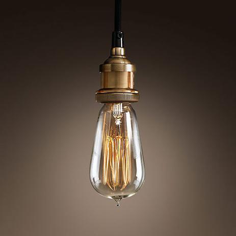 7453e4244 Pendente Retro Industrial Vidro Loft Luminária Vintage Lustre Design Edison  LM1768 - Eluminarias