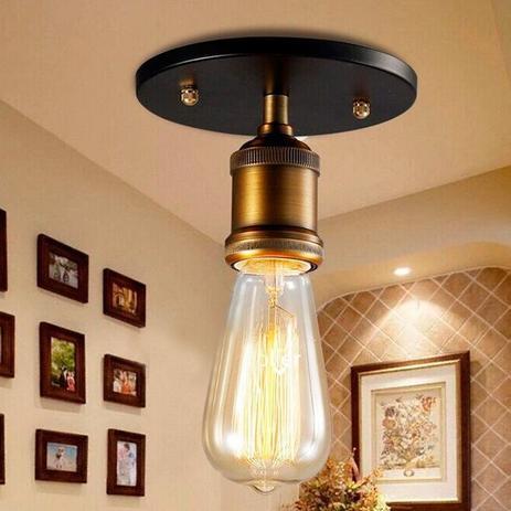 69b46f7b7 Pendente Retro Industrial Vidro Loft Luminária Vintage Lustre Design Edison  LM1770 - Eluminarias
