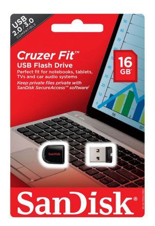 Imagem de Pendrive 16GB Cruzer Fit Sandisk
