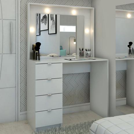 Imagem de Penteadeira Camarim São Francisco Com Espelho Branco